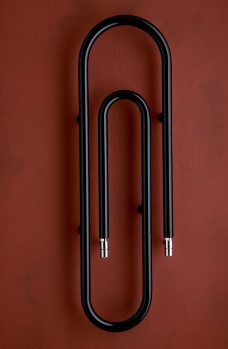 Koupelnový  radiátor Clip -  černá - CL1B